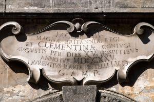 Lapide Comemorati di Giacomo III Stewart