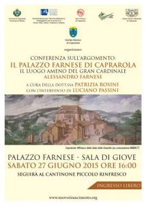 Leggi tutto: Conferenza: Il Palazzo Farnese di Caprarola