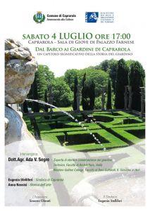 Leggi tutto: Dal Barco ai giardini di Caprarola 4 luglio 2015