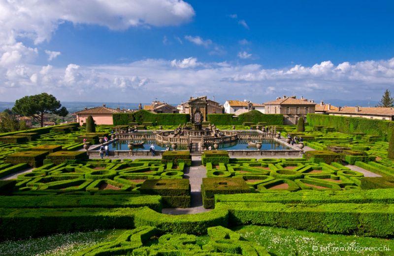 Villa lante di Bagnaia, giardini all'italiana