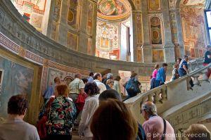 Un gruppo in visita al Palazzo