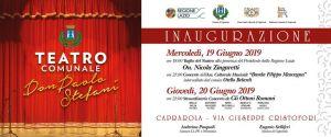 """Leggi tutto: 19 giugno, inaugurazione del nuovo Teatro  """"Don Paolo Stefani"""""""