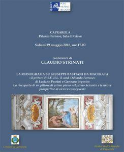 Leggi tutto: Caprarola, Conferenza di Claudio Strinati su Giuseppe Bastiani, Palazzo Farnese, 19 maggio