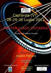 Leggi tutto: Masterclass di chitarra del M°Angelo Ferraro - 28-29-30 luglio