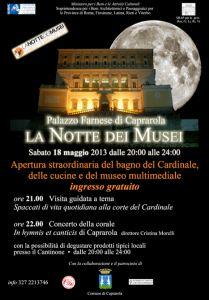 Leggi tutto: La Notte dei Musei - Caprarola 18 maggio 2013